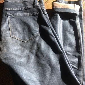 Plastic by gly coated jeans